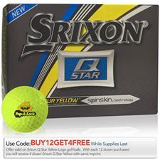 Srixon Custom Logo Q-Star Tour Yellow Golf Balls