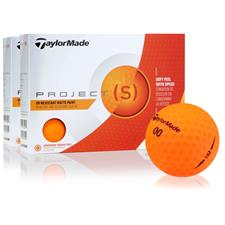 Taylor Made Project (s) Matte Orange Golf Balls - 2 Dozen