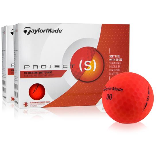 Taylor Made Project (s) Matte Red Golf Balls - 2 Dozen