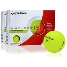 Taylor Made Project (s) Matte Yellow Golf Balls - 2 Dozen