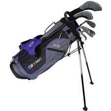 U.S. Kids Ultralight 54 Inch 7-Club Stand Bag Junior Set - Grey-Purple - Right Hand