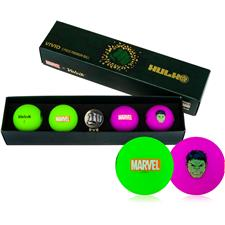 Volvik Vivid Golf Ball Gift Set - Marvel Hulk