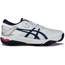 ASICS White-Navy-Grey  Gel-Course Duo BOA Golf Shoes