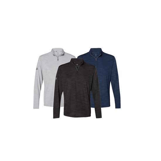 Adidas Men's Lightweight Melange Quarter - Zip Pullover