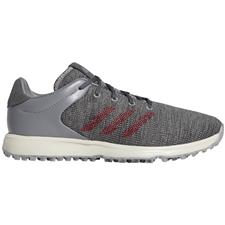 Adidas Grey Three-Collegiate Burgundy-Grey Six S2G Golf Shoes