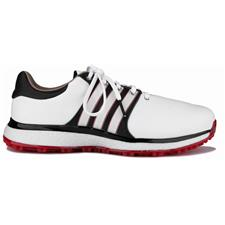 Adidas Cloud White-Core Black-Scarlet Tour360 XT Spikeless Golf Shoe