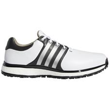 Adidas White-Matte Silver-Core Black Tour360 XT Spikeless Golf Shoes