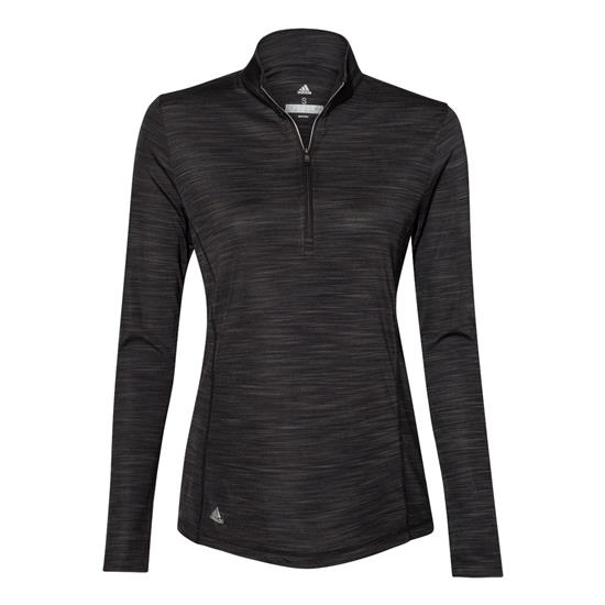Adidas Women's Lightweight Melange Quarter - Zip Pullover