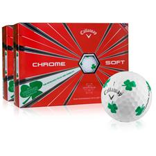 Callaway Golf Chrome Soft Truvis Shamrock Golf Balls - 2 Dozen
