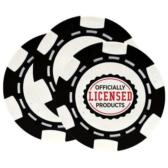 Classic Officially Licensed Logo Poker Chips - 3 Pack