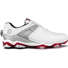 FootJoy White-Red Tour X BOA Golf Shoes