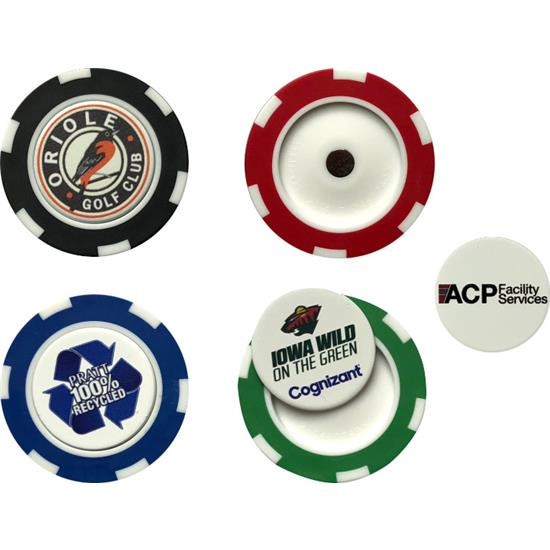 Logo Golf Poker Chip with Removable Ball Marker