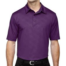 North End Custom Logo Maze Performance Embossed Print Polo