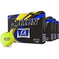 Srixon Q-Star Yellow Golf Balls - Buy 3 DZ Get 1 DZ Free