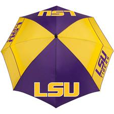 Team Effort Collegiate 62 Inch Windsheer Lite Umbrella - LSU T