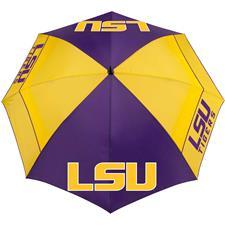 Team Effort Collegiate 62 Inch Windsheer Lite Umbrella - LSU T