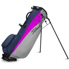 Titleist Players 4 Carbon Golf Bag - Grey-Magenta-Navy