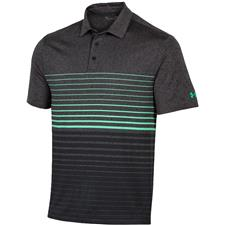 Under Armour Black Heather-Vapor Green-Black Playoff 2.0 Premier Polo
