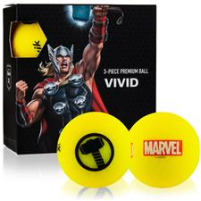 Volvik Marvel Vivid Golf Balls - Thor - 4-Ball Pack