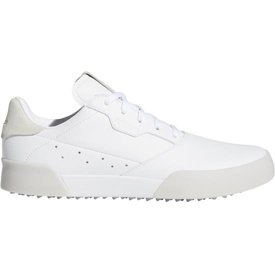 Adicross Retro Golf Shoes for Juniors - White-Gold Metallic-Crystal White - 6 Youth