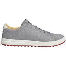 Adidas Grey Three-Silver Metallic-Orbit Grey Adipure SP Knit Golf Shoes