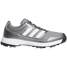 Adidas Iron Metallic-White-Scarlet Tech Response 2.0 Golf Shoes