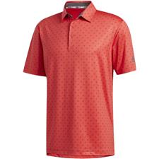 Adidas Real Coral-Grey Five Ultimate365 Badge of Sport Polo Shirt