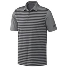 Adidas Grey Three-Grey Six Ultimate365 Wide Stripe Polo Shirt