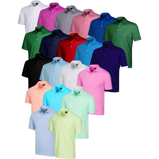 Greg Norman Men's Protek ML75 Microlux 2Below Solid Polo