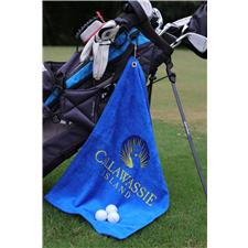 Logo Golf Custom Logo Screen Printed Midweight Golf Towels