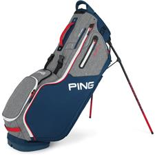 PING Hoofer 14 Stand Personalized Bag - Heathered Grey-Navy-Scarlet
