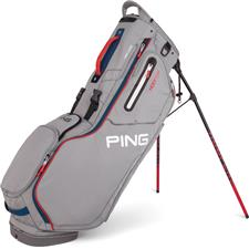 PING Hoofer Stand Bag - Silver-Scarlet-Navy