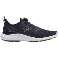 Puma Peacoat-Team Gold-Puma White Ignite NXT Disc Golf Shoes - 2020 Model