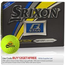 Srixon Custom Logo Prior Generation Q-Star Yellow Golf Balls
