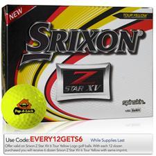 Srixon Custom Logo Z Star XV Yellow Golf Balls