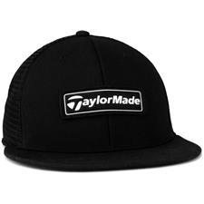 Taylor Made Men's Trucker Flat Bill Hat 2020 - Black