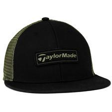 Taylor Made Men's Trucker Flat Bill Hat 2020 - Black-Olive