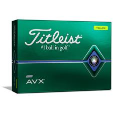 Titleist Logo Overrun AVX Yellow Golf Balls