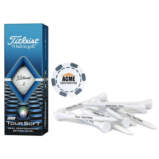Titleist Sleeve, Chip Marker and Tee Kit