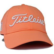 Titleist Men's Tour Performance Golf Hat - Cantaloupe-White