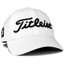 Titleist Men's Tour Performance Staff Collection Golf Hat - White-Black