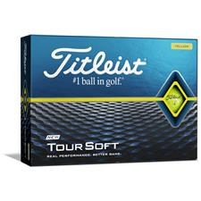Titleist Logo Overrun Tour Soft Yellow Golf Balls