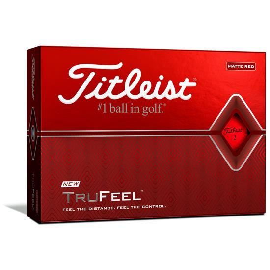 Titleist TruFeel Matte Red Golf Balls