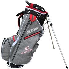 Tour Edge Exotics EXS Xtreme Stand Bag - Gray Heather-Red-White