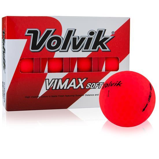Volvik VIMAX Soft Matte Red Golf Balls