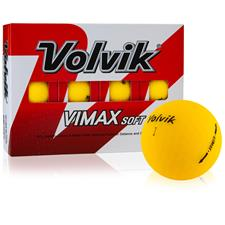 Volvik VIMAX Soft Matte Yellow Personalized Golf Balls