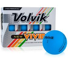 Volvik Vivid Matte Blue Personalized Golf Balls
