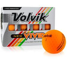 Volvik Custom Logo Vivid Matte Orange Golf Balls