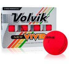 Volvik Vivid Matte Red Custom Logo Golf Balls