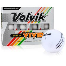 Volvik Vivid Matte White Personalized Golf Balls